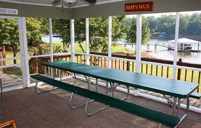 Lake Norman Vacation Home Porch